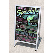 Mr. Bar-B-Q 90034 - 2 Sided Sign, Indoor/Outdoor, Aluminum A Frame