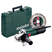 "Metabo® W9-115 KIT 4-1/2"" Angle Grinder Kit W/Diamon Cutting Disc & Carry Case"
