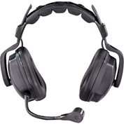 Motorola Ultra Lightweight Double Muff Headset, Noise Cancelling, Push To Talk, ET-ULTR-DBL