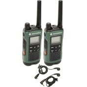 Motorola Talkabout® T465 Two-Way Radios, Green/Black - 2 Pack