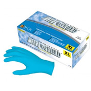 MCR Safety 6020XL NitriShield Nitrile Gloves, Industrial/Food Grade, Textured, Powdered, X-Large