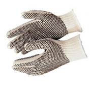 PVC Dot String Knit Gloves, Memphis Glove 9650LM, 12-Pair