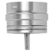 "Metal-Fab CorrGuard® Tee Cap W/Drain Fitting, 3CGSWTC, 3"" Dia, S/S, Single Wall, 4-5/9""L"