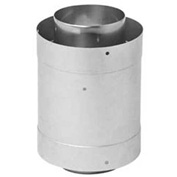 "Metal-Fab CorrGuard® Male to Male Adapter, 5CGVDMA, 5"" Dia, S/S, Double Wall, 8.88""H"