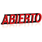 "Mystiglo Abierto LED Sign - 23-1/2""W x 6""H"