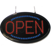 "Mystiglo Oval Open/Close LED Dot Sign - 24""W x 14""H"