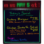 """Mystiglo Write-On Board With Scrolling Messenger LED Sign - 19""""W x 22""""H"""