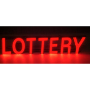 "Mystiglo Lottery LED Sign - 25""W x 5""H"
