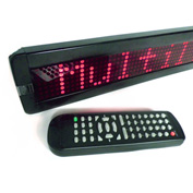"Mystiglo Scrolling Messenger LED Sign - 26""W x 4""H"