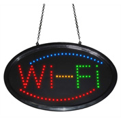 "Mystiglo Wi-Fi LED Dot Sign - 24""W x 14""H"