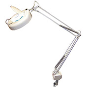 3-Diopter Fluorescent Magnifier Lamp w/ AC Receptacle, White