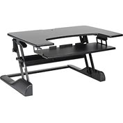 "MG Electronics Ergonomic Sit-Stand Desktop Platform - 35.5""W x 25""D - Black"