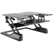 "MG Electronics Ergonomic Sit-Stand Desktop Platform - 30""W x 25""D - Black"