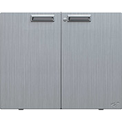 "Hercke Stainless Steel Counter Height Storage Cabinet LSC302424-S72 - 30"" x 24"" x 24"" Satin Black"