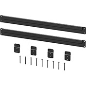 "Hercke Wall Mount Kit WMS300000-S70 For Stainless Steel Cabinets - 30"" x 1/2"" x 1"" Satin Black"
