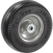 "Marathon 00026 2.80/2.50-4 Jag Tread Flat Free, 3"" Centered, 1/2"" Ball Bearings"