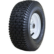 "Marathon Pneumatic Tire 20336 - 13x5.00-6 Turf Tread - 3"" Centered - 3/4"" Bearings"