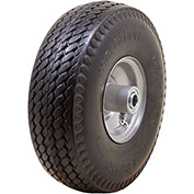 "Marathon Flat Free Tire 30030 - 4.10/3.50-4 Sawtooth Tread - 3.5"" Centered - 5/8"" Bearings"
