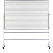 "Marsh Porcelain Reversible Pro-Rite Music Staff Markerboard, 72""W x 48""H, White"