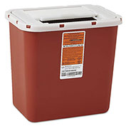 Medline MDS705202 Multipurpose Sharps Container, Freestanding/Wall Mount, 8 Quart, Red