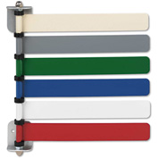 "Medline Room ID Flag System, 6 Flags, 8""L Flag, Assorted Primary Colors, 1/PK"