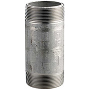 1/2 In. X 3 In. 304 Stainless Steel Pipe Nipple - 16168 PSI - Sch. 40 - Domestic