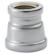 Chrome Plated Brass Pipe Fitting 1-1/2 X 1/2 Reducing Coupling Npt Female - Pkg Qty 10