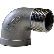 1 In. 304 Stainless Steel 90 Degree Street Elbow - MNPT X FNPT - Class 150 - 300 PSI - Import