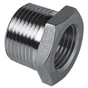 "Iso Ss 304 Cast Pipe Fitting Hex Bushing 1-1/4"" X 1/2"" Npt Male X Female - Pkg Qty 25"
