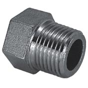 "Iso Ss 304 Cast Pipe Fitting Hex Head Plug 1/2"" Npt Male - Pkg Qty 75"