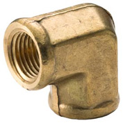 "Brass Yellow Barstock 1/8"" 90 Degree Elbow Npt Female - Pkg Qty 25"