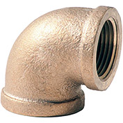 1-1/4 In. Lead Free Brass 90 Degree Elbow - FNPT - 125 PSI - Import
