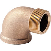2 In. Lead Free Brass 90 Degree Street Elbow - MNPT X FNPT - 125 PSI - Import