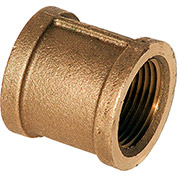 1 In. Lead Free Brass Coupling - FNPT - 125 PSI - Import