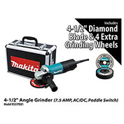 "Makita® 9557PBX1 4-1/2"" Angle Grinder Power Pack"