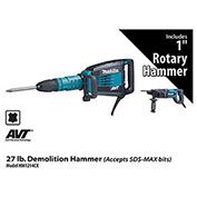 Makita® HM1214CX 27 lb. Demolition Hammer Power Pack