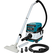 Makita XCV04Z 18V X2 36V Cordless/Corded 2.1 Gal HEPA Filter Dry Dust Vacuum w/ Adapters, Tool Only