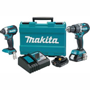 Makita® XT269R, 18V Compact Lithium-Ion Brushless Cordless Combo Kit, 2 Pc.