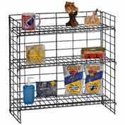 Marv-O-Lus Counter Shelf Rack, 3 Step Design, Black, SR-5
