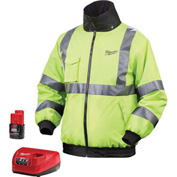 Milwaukee® 2347-2X M12™ Cordless High Visibility Heated Jacket Kit - 2X