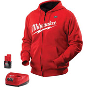 Milwaukee® 2371-2X M12™ Cordless Red Heated Hoodie Kit - 2X