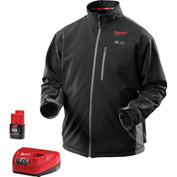 Milwaukee® 2395-2X M12™ Cordless Black Heated Jacket Kit - 2X