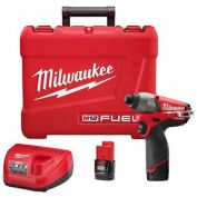 "Milwaukee® 2453-22 M12 FUEL™ 1/4"" Hex Impact Driver Kit"