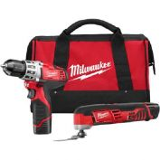 Milwaukee 2495-22 M12 Cordless 2-Tool Combo Kit