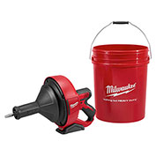 Milwaukee® 2571-20 M12™ Drain Snake Cleaning Machine (Tool Only) W/5 Gallon Bucket