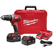 "Milwaukee® 2607-22 M18™ Compact 1/2"" Hammer Drill/Driver Kit"