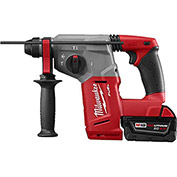 "Milwaukee 2712-22DE M18 Fuel 1"" SDS Plus Rotary Hammer & HAMMERVAC™ Dedicated Dust Extractor Kit"