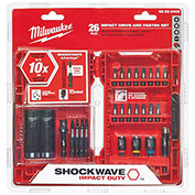 Milwaukee® 48-32-4008 SHOCKWAVE™ 26 Piece Drive & Fastening Bit Set