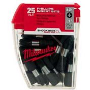 "Milwaukee® 48-32-4607 SHOCKWAVE™ #2 Square Recess 1"" Insert Bit Contractor Pack (10 Pack)"