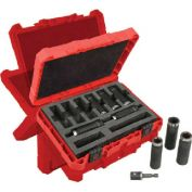 "Milwaukee® 49-66-4484 1/2"" Drive 9 Piece Shockwave™ Thin Wall Deep Impact Socket Set"